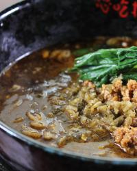 黒ゴマ担担麺の写真です。